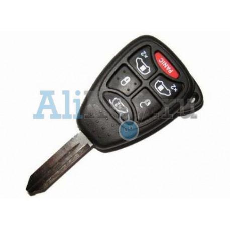 Dodge ключ зажигания с дистанционным управлением, 5 кнопок+panic