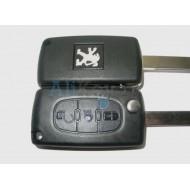 Peugeot корпус ключа зажигания 3 кнопки в центре ФАРА