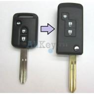NISSAN корпус выкидного ключа зажигания 3 кнопки