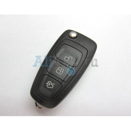 Выкидной ключ зажигания Ford Focus III, Mondeo. Дистанционное управление 3 кнопки.