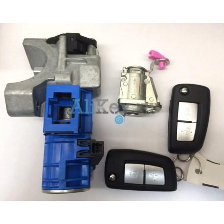 Комплект личинок (зажигание, дверь и два ключа) Nissan Qashqai