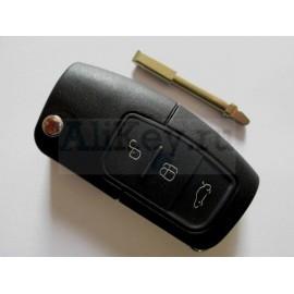 Выкидной ключ зажигания Ford с дистанционным управлением (3 кнопки) для модели Fusion . Чип 4D-63