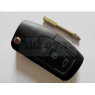 Ford ключ выкидной с дистанционным управлением (3 кнопки) для модели Fusion . Чип 4D-63