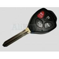 Toyota дистанционный ключ управления (3 кнопки+паника), чип 4D-67, лезвие TOY 43.