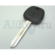 TOYOTA заготовка ключа с под чип (TOY 43)
