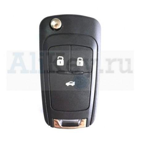 Шевролет выкидной ключ с дистанционным управлением 3 кнопки . Для Cruze sedan, Aveo II sedan.