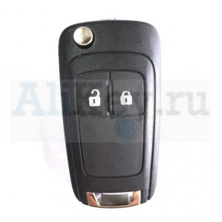 Chevrolet выкидной ключ зажигания с дистанционным управлением 2 кнопки.
