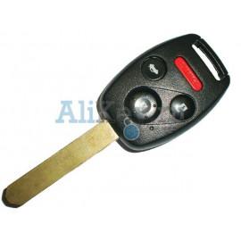 Honda ключ зажигания с дистанционным управлением, 3 кнопки+panic с 46 чипом