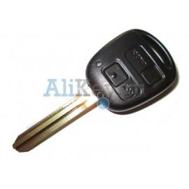 Toyota ключ с дистанционным управлением, 2 кнопки с чипом 4D-67, лезвие TOY 43, модель LAND CRUISER