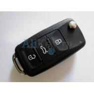 Volkswagen выкидной ключ с дистанционным управлением (3 кнопки+panic). Модель Touareg