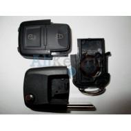 Volkswagen корпус выкидного ключа с дистанционным управлением (2 кнопки)