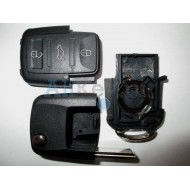 Volkswagen корпус выкидного ключа c дистанционным управлением (3 кнопки)