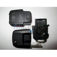 Volkswagen корпус выкидного ключа с дистанционным управлением (3 кнопки+panic)
