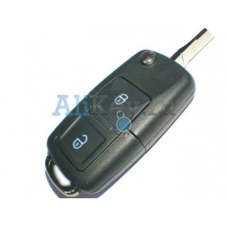Skoda выкидной ключ с 2 кнопками, дистанционное управление