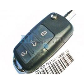 Skoda выкидной ключ зажигания с 3 кнопками, дистанционное управление