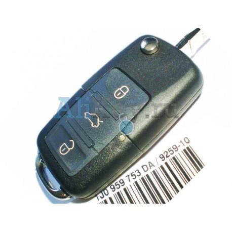 Skoda выкидной ключ с 3 кнопками, дистанционное управление