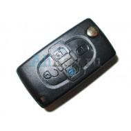 Peugeot корпус выкидного ключа зажигания, 4 кнопки