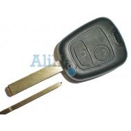 Peugeot корпус дистанционного ключа зажигания, 2 кнопки