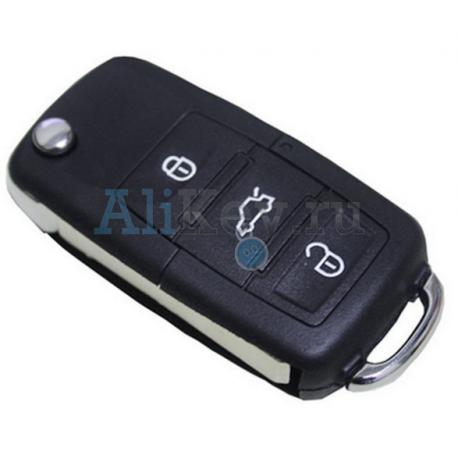 Volkswagen выкидной ключ с дистанционным управлением (3 кнопки)