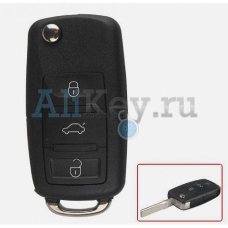 Seat выкидной ключ зажигания с дистанционным управлением 3 кнопки.