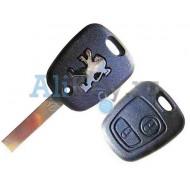 Peugeot корпус дистанционного ключа зажигания, 2 кнопки, лезвие с боковыми каналами
