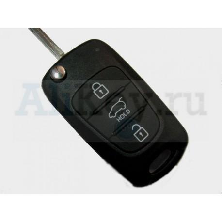 Hyudai i30 выкидной ключ с дистанционным управлением.