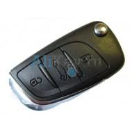 Citroen выкидной ключ зажигания с дистанционным управлением, 3 кнопки