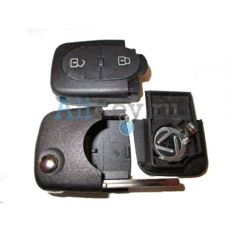Audi корпус выкидного ключа зажигания, 3 кнопки, с местом под 2 батарейки
