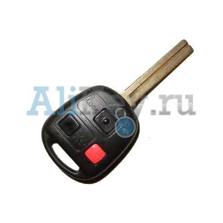 Lexus ключ зажигания с дистанционным управлением с чипом 4D-68, 3 кнопки