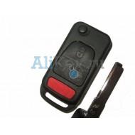Mercedes корпус выкидного ключа зажигания, 3 кнопка+panic