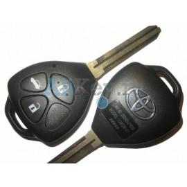 Toyota Camry ключ зажигания, 3 кнопки, чип 4D-67, лезвие TOY 43