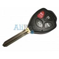 Toyota корпус дистанционного ключа зажигания, 3 кнопки+panic, лезвие TOY 43