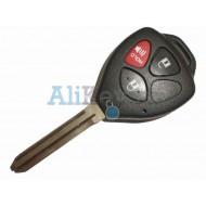 Toyota корпус дистанционного ключа зажигания, 2 кнопки+panic, лезвие TOY 43