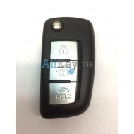 Корпус ключа Nissan 3 кнопки