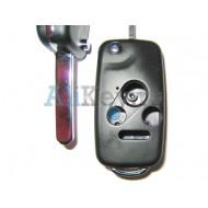 Honda корпус выкидного ключа, 3 кнопки+panic