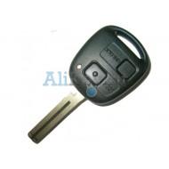Toyota ключ с дистанционным управлением, 2 кнопки, чип 4С, лезвие TOY 48. Модель LAND CRUISER