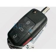 Volkswagen выкидной ключ с дистанционным управлением (3 кнопки+panic). 2001-2005 г.в.
