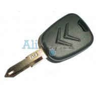 Citroen заготовка ключа зажигания с местом под чип