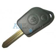 Citroen корпус, заготовка дистанционного ключа зажигания, 2 кнопки
