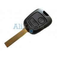 Citroen корпус, заготовка дистанционного ключа зажигания, 2 кнопки, с боковыми каналами