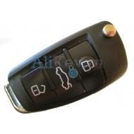 Audi корпус выкидного ключа зажигания, 3 кнопки