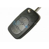 Audi выкидной ключ зажигания с дистанционным управлением, 3 кнопки